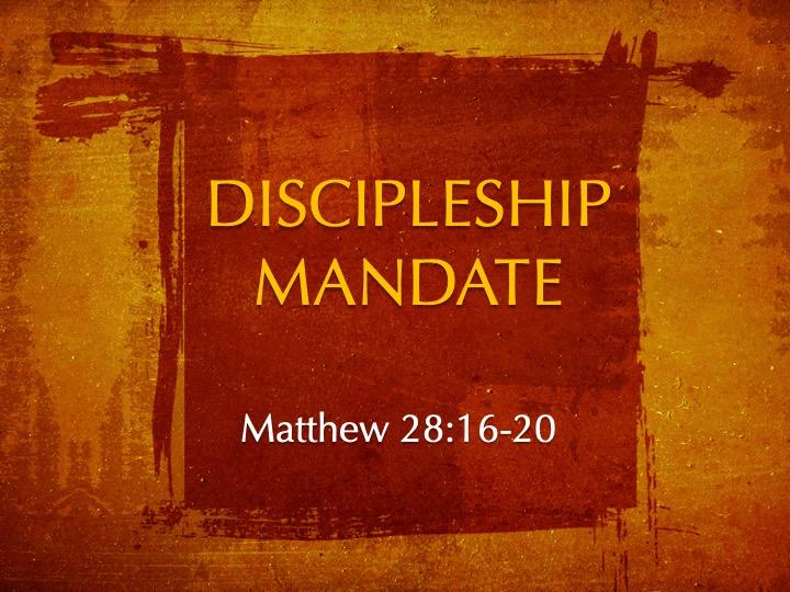 Discipleship Mandate